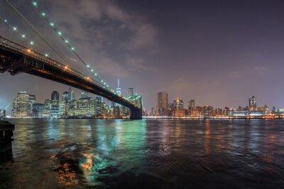 Adesivo nuova visualizzazione York notte da Brooklyn