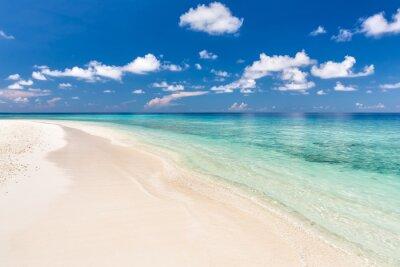 Adesivo Oceano bella spiaggia su Maldive
