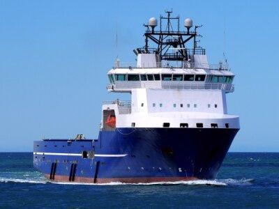 Adesivo Offshore Ship alimentazione F, Offshore Supply Vessel in corso in mare per impianto off-shore.