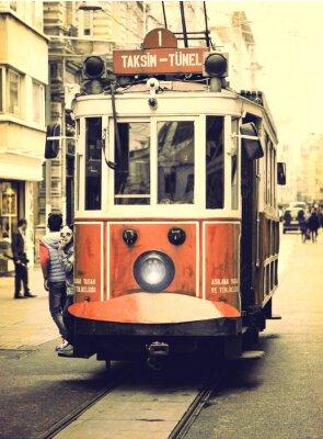 Adesivo Old tram sulla via Istiklal, Istanbul.