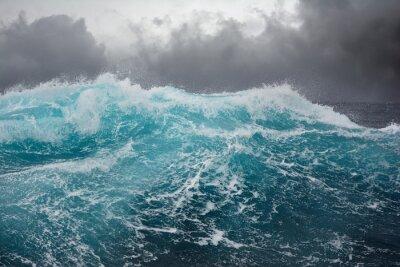 Adesivo onda del mare nell'Oceano Atlantico durante la tempesta