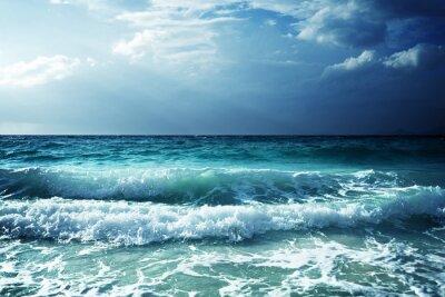 Adesivo onde sulla spiaggia di Seychelles