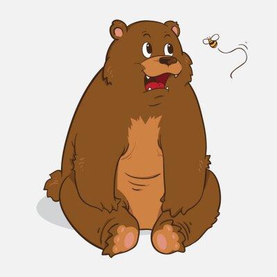 Adesivo orso bruno