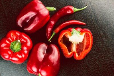 Adesivo Ortaggi freschi peperoni colorati