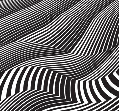 Adesivo ottica arte astratto in scala di grigi grafica in bianco e Pentecoste