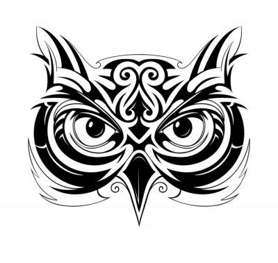Adesivo Owl head tattoo