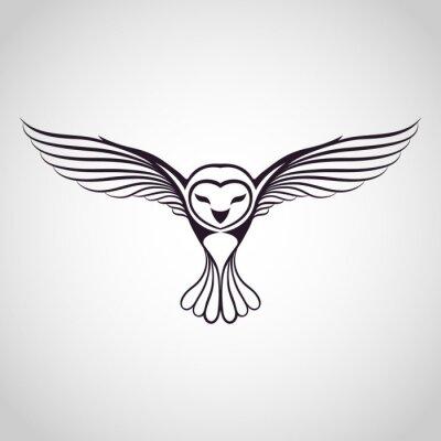 Adesivo owl logo