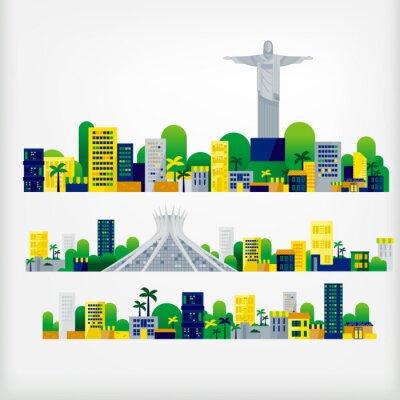 Adesivo paesaggio del Brasile