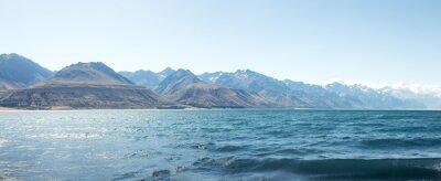 Adesivo paesaggio del lago nel giorno d'estate in Nuova Zelanda