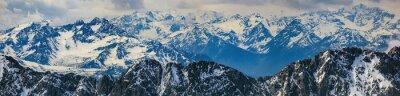 Adesivo paesaggio invernale di Panorama Alpi montagna