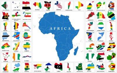 Adesivo paesi dell'Africa bandiera mappe