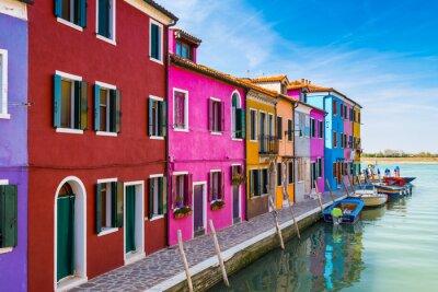 Adesivo Painted houses of Burano, in the Venetian Lagoon, Italy.