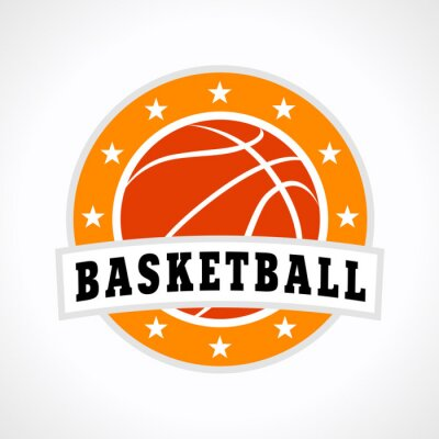 Adesivo Pallacanestro emblema logo