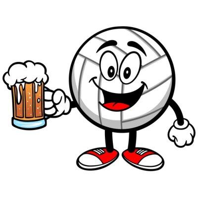 Adesivo Pallavolo Mascot con birra