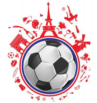 Adesivo pallone da calcio con il simbolo della Francia