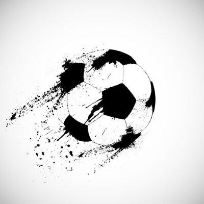 Adesivo Pallone da calcio Grunge