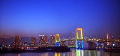 Adesivo Panaroma dei Illuminated Tokyo