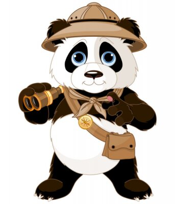 Adesivo Panda Explorer Safari
