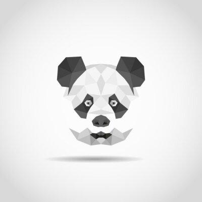 Adesivo Panda in stile moderno poligonale