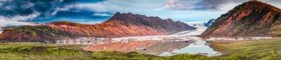 Adesivo Panorama della bella ghiacciaio e il lago all'alba in Islanda