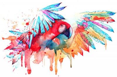 Adesivo pappagallo