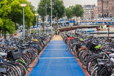 Adesivo Parcheggio per le bici a Amsterdam