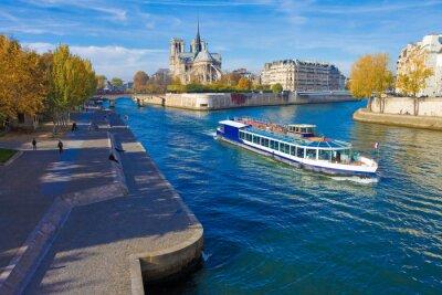 Adesivo Parigi, la Senna e Notre-Dame vu du Pont de la Tournelle
