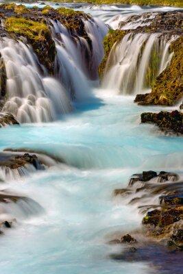 Adesivo Particolare della cascata Bruarfoss in Islanda