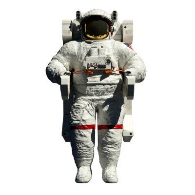 Adesivo passeggiate spaziali degli astronauti - 3d illustrazione vista anteriore su bianco