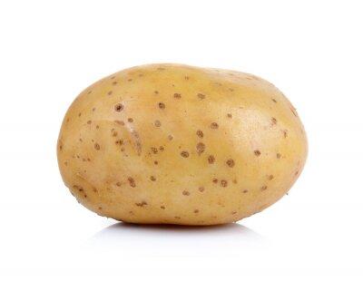 Adesivo patate su sfondo bianco