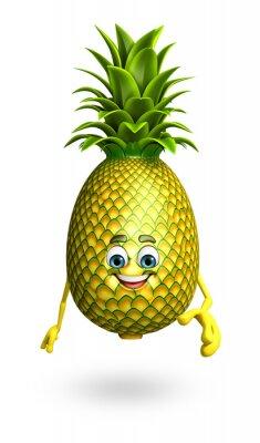 Adesivo Personaggio dei cartoni animati di ananas