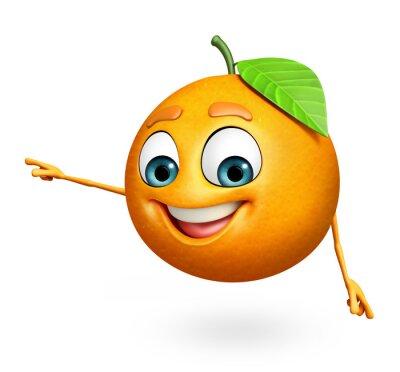 Adesivo Personaggio dei cartoni animati di arancia