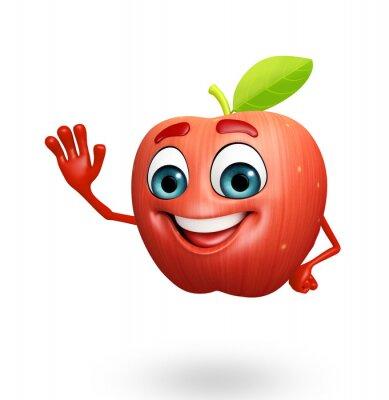Adesivo Personaggio dei cartoni animati di frutta mela