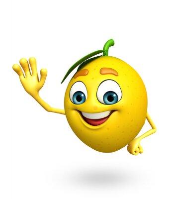 Adesivo Personaggio dei cartoni animati di limone