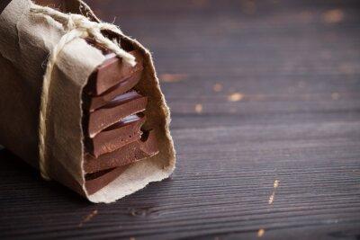 Adesivo Pezzi di cioccolato confezionate