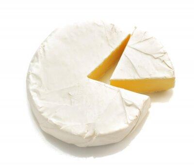 Adesivo pezzo di formaggio formaggio isolato su bianco