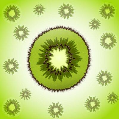 Adesivo Pezzo unico di kiwi sullo sfondo di frutta