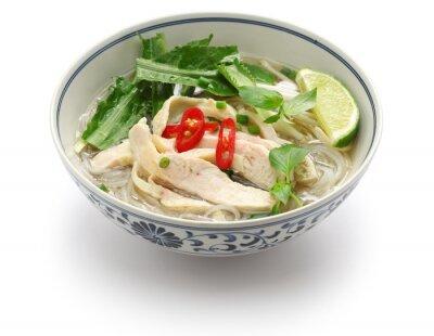 Adesivo pho ga, riso al pollo vietnamita zuppa di spaghetti