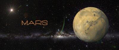 Adesivo Pianeta Marte nello spazio.
