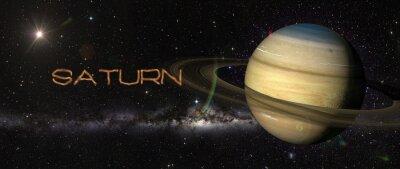 Adesivo Pianeta Saturno nello spazio.