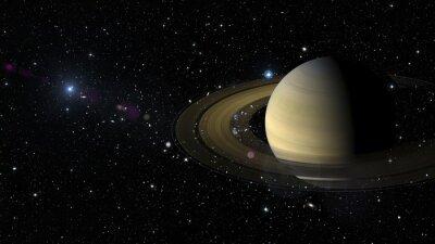 Adesivo Pianeta Saturno nello spazio. Elementi di questa immagine fornita dalla NASA