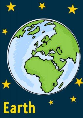 Adesivo Pianeta Terra