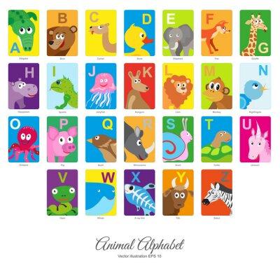 Adesivo Piatto Alfabeto degli animali