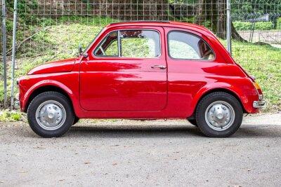 Adesivo piccola auto / piccola auto rossa