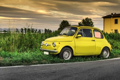 Adesivo Piccole auto italiane d'epoca Fiat Abarth