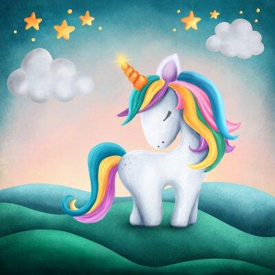 Adesivo Piccolo unicorno carino