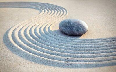 Adesivo Pietra e le linee nella sabbia