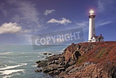 Adesivo pigeon point lighthouse - pacific coast / california