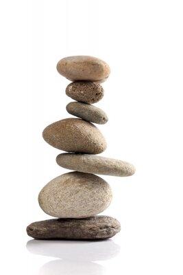 Adesivo Pila equilibrata delle diverse pietre di fiume