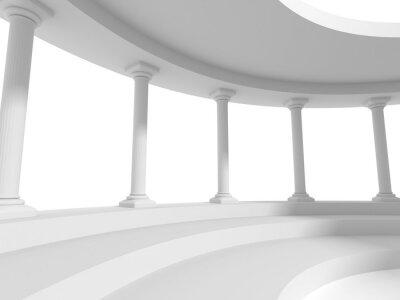 Adesivo pilastri colonne disegno di architettura di fondo